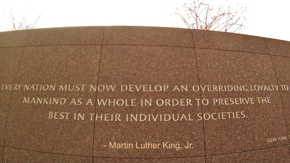 "MLK: ""Every nation must now develop an overriding loyalty to mankind as a whole in order to preserve the best in their individual societies."""